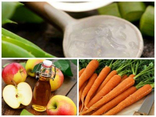 ¿Para que sirven las zanahorias, el aloe vera y el vinagre de manzana en el tratamiento para las varices?