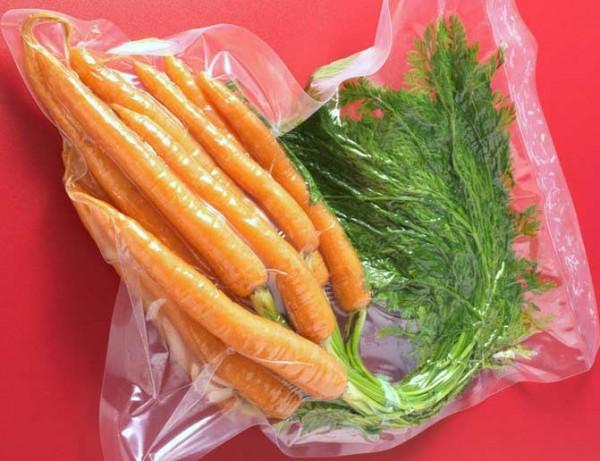Verduras al vacío