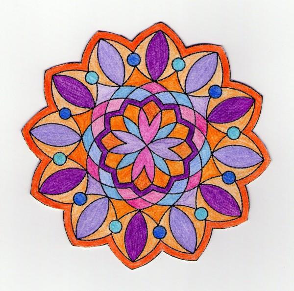 mandala para colorear 1 pintado
