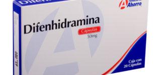 ¿Para qué sirve la Difenhidramina?