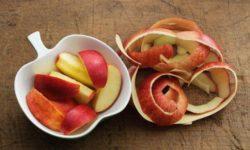 Para qué sirve la cáscara de manzana